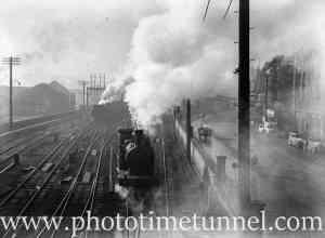 Smoke over Scott Street, Newcastle, NSW, May 30, 1939. (2)