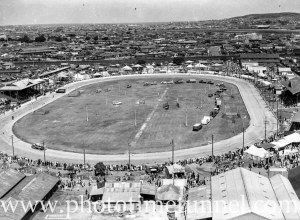 Aerial view of showground, Newcastle, NSW, circa 1940s. (2)