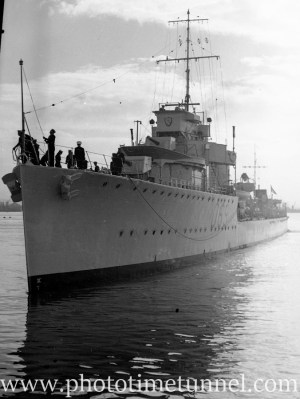 Destroyer HMAS Vendetta in Newcastle Harbour, NSW, April 14, 1936. (5)