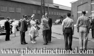 Queen Elizabeth II and Prince Philip at BHP steelworks, Newcastle, NSW, February 9, 1954. (19)