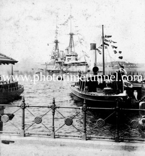 Arrival of HMAS Australia at Sydney Harbour, 4-10-1913.