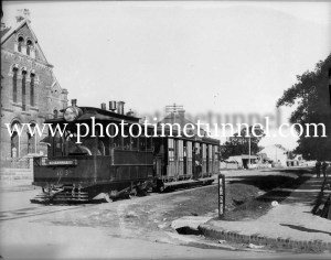 Steam tram and trailcar at Arncliffe, NSW