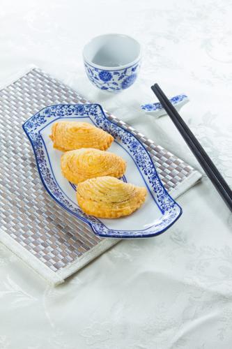 【三件傳統中式點心叉燒酥】印刷級的美食相