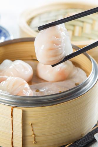 【用筷子夾比傳統中式點心蝦餃】可以下載的食物相