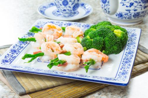 【鮮蝦蘆筍炒蝦球】的美饌素材畫像