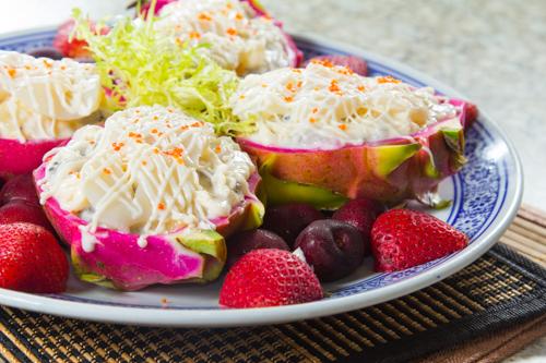 【鮮果火龍果沙律】印刷級的美食相