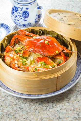 【蒸籠蒸原隻肉蟹糯米飯】大量美味畫像盡情用
