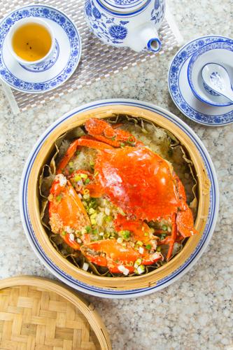 【蒸籠蒸原隻肉蟹糯米飯】比自己拍攝更便宜的食物相片方案