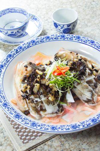 【香滑鮮魚料理豉汁蒸魚頭】的美饌素材畫像