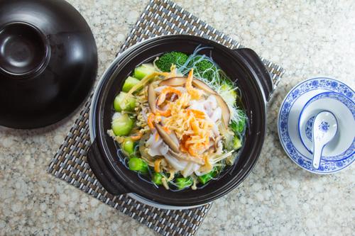 【乾瑤柱魷魚粉絲雜菜煲】專業食物攝影師的圖片庫