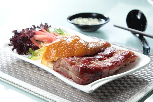 【港式燒臘豉油雞髀蜜汁叉燒燒味拼盤】可以下載的食物相