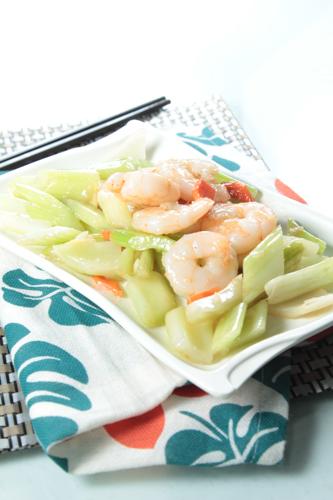 【家常小菜西芹蝦球】可以下載的食物相