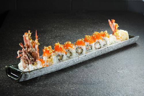 【豪華日本料理金箔蟹子炸大蝦卷物壽司】節省時間成即用美饌素材畫像