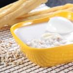 大麦と湯葉とゆで卵の甘い汁粉