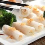 Steamed radish rolls