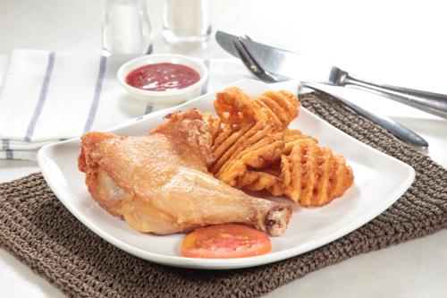 炸雞髀配脆薯格