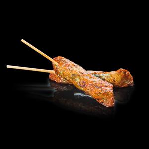 【炸雞肉棒 | 黑色背景倒影版本】已剪走背景可以下載即用的食物相
