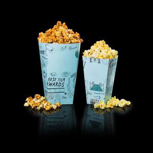 two packs popcorns