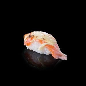 焼きチーズサーモン寿司の切抜き画像・食べ物写真素材・商用ダウンロード可