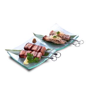 豬肉培根串的去背退地食物素材相片