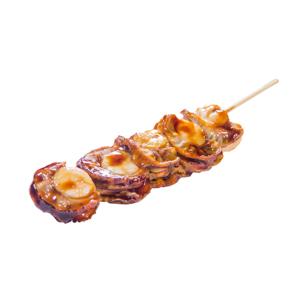 帆立貝串燒的去背退地食物素材相片