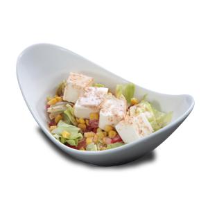生菜豆腐沙律的去背退地食物素材相片