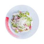 章魚沙拉鳥瞰拍攝的去背退地食物素材相片