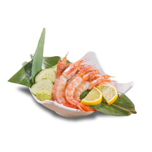大蝦刺身的去背退地食物素材相片