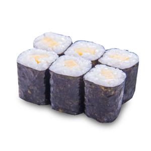 玉子小卷壽司的去背退地食物素材相片