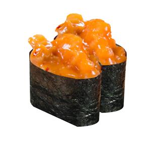 調味海螺軍艦壽司兩件的去背退地食物素材相片