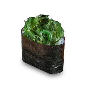 紫菜沙拉軍艦壽司一件的去背退地食物素材相片