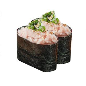 【蔥吞拿魚軍艦壽司兩件】的去背退地圖庫相片