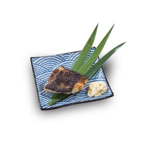 烤魚柳的去背退地食物素材相片