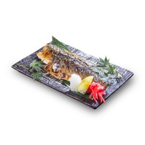 【鹽燒青魚】已剪去背景飲食業專用素材圖像