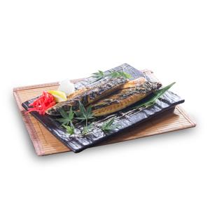 烤鯖魚的去背退地食物素材相片