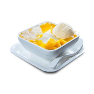 椰果雲呢拿雪糕豆腐花芒果露的去背退地食物素材相片