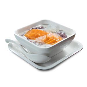 芒果椰果椰奶黑糯米糖水的去背退地食物素材相片