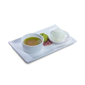 紅豆綠茶燉蛋配牛奶雪糕的去背退地食物素材相片