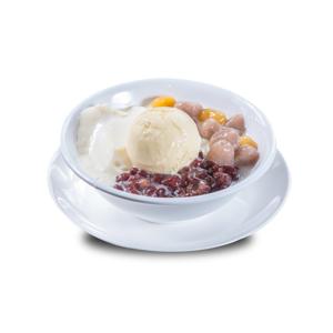 紅豆芋頭冰淇淋豆腐布丁的去背退地食物素材相片