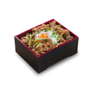 溫泉蛋燒牛肉飯盒便當的去背退地食物素材相片