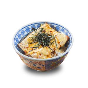 芝士鰻魚丼飯的去背退地食物素材相片