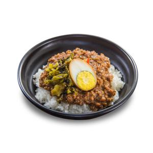 肉燥鹵水蛋飯的去背退地食物素材相片