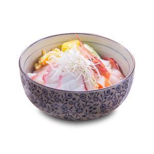 【墨魚玻璃蝦蟹柳刺身丼飯】你的最佳餐點相片