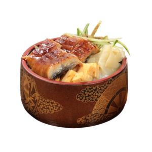 蒲燒鰻魚玉子燒飯的去背退地食物素材相片