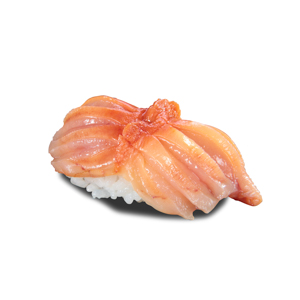 原隻赤貝壽司的去背退地食物素材相片