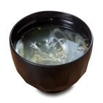 蔥花昆布麵豉湯的去背退地食物素材相片