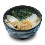 昆布海苔白蘿蔔帆立貝稻庭烏冬的去背退地食物素材相片