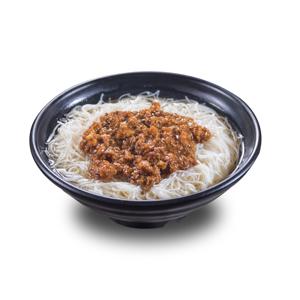 台灣肉燥銀絲米粉的去背退地食物素材相片
