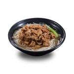 燒汁牛肉菜清湯米線的去背退地食物素材相片