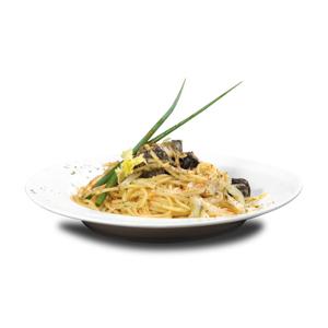 黑松露蘑菇炒意大利粉的去背退地食物素材相片